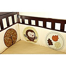 image of carter's® Friends 4-Piece Secure-Me Padded Crib Bumper Set