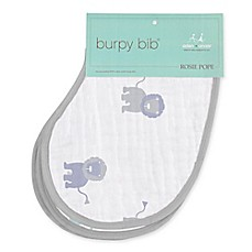 image of aden + anais® Rosie Pope 2-Pack Lion Burpy Bib® in Grey