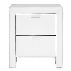 image of Baxton Studio Upholstered Modern Nightstand