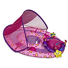 Image Of SwimWays Baby Spring Float Activity Center With Canopy In Pink