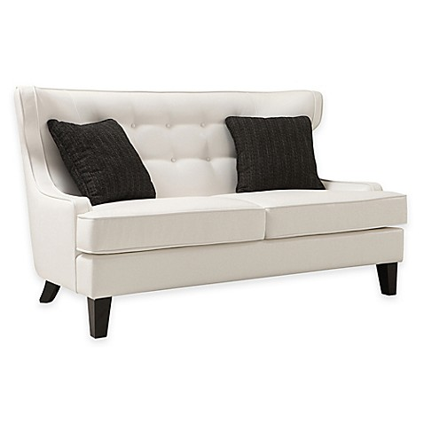 Toronto Tufted Loveseat In Cream Bed Bath Beyond