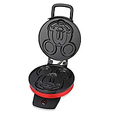 image of Disney® Classic Mickey Mouse Waffle Maker in Red