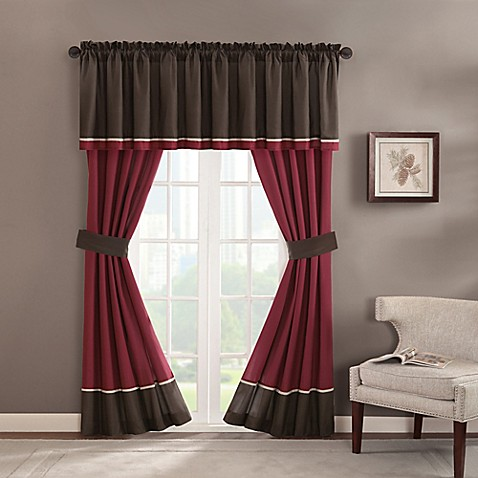 Chester Rod Pocket Window Valance In Brown Bed Bath Amp Beyond