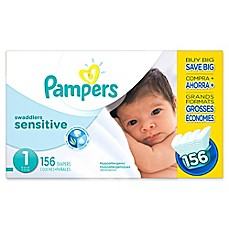 image of Pampers® Swaddlers Sensitive™ 156-Count Size 1 Economy Pack Diapers