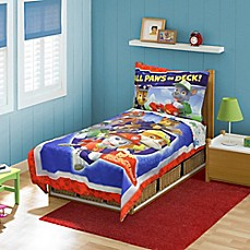 image of nickelodeon paw patrol 4piece toddler bed set