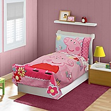 image of babyboom® Peppa Pig 4-Piece Toddler Bedding Set in Pink