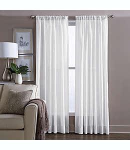 Cortina transparente de algodón Wamsutta® de 2.13 m color blanco