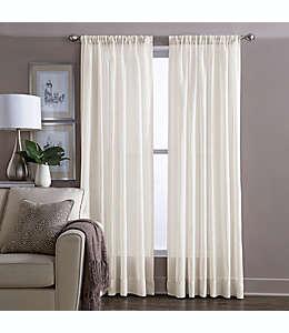 Cortina transparente de algodón Wamsutta® de 1.6 m color marfil