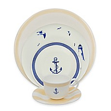 image of P by Prouna Marine Blue Dinnerware Collection