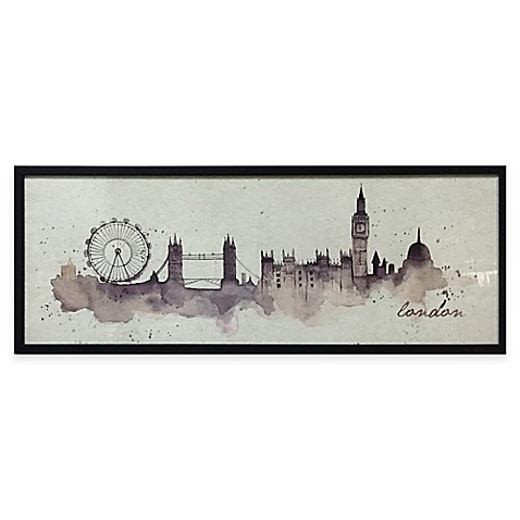 Watercolor london framed wall art bed bath beyond for London wall art