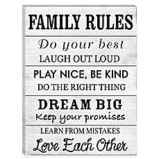 image of Family Rules Wood Wall Art