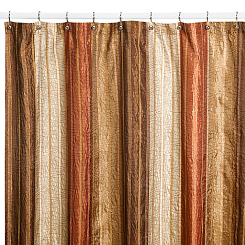 Manor Hill® Sierra Copper 54-Inch x 78-Inch Fabric Shower Stall ...