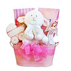 image of Christening Blessings Girl Gift Basket