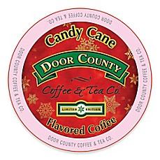 image of 12-Count Door County Coffee & Tea Co. Candy Cane Flavored Coffee for Single Serve Coffee Makers
