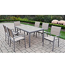 Oakland Living™ Padded Sling 7 Piece Outdoor Dining Set In Champagne