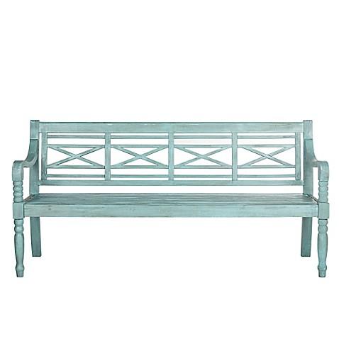 Safavieh Karoo Bench In Beach House Blue Bed Bath Amp Beyond