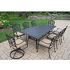 Image of Oakland Living Clairmont 9 Piece Outdoor Dining SetPatio Furniture Sets   Chair Pads  Seat Cushions   more   Bed Bath  . Eden Outdoor Living Round Rock. Home Design Ideas