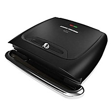 image of George Foreman® 8-Serving Classic Plate Grill in Black