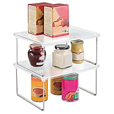 image of InterDesign® Cabinet Binz™ 12-Inch Stackable Shelf