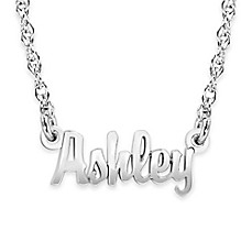 image of Alison & Ivy® 10K Gold Mini Nameplate Necklace