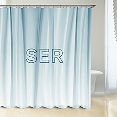 image of Polyester Shower Curtain in White