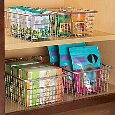 Image Of InterDesign® Forma™ Cabinet Binz™ Metal Bin