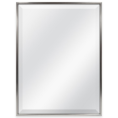18 x 24 bathroom mirror slim border 24 inch x 18 inch rectangular mirror in pewter 21766