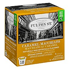image of 18-Count Fulton St.™ Caramel Macchiato RealCup® Coffee for Single Serve Coffee Makers