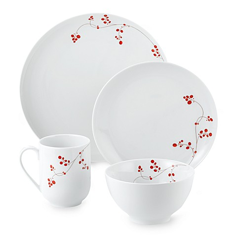 Mikasa® Gourmet Basics Red Berries 16-Piece Dinnerware Set