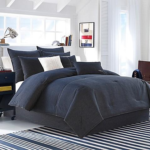 Nautica 174 Seaward Duvet Cover Set In Denim Blue Bed Bath
