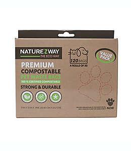 Bolsas de resina para desechos de mascota NaturEZway, Set de 120 pzas.