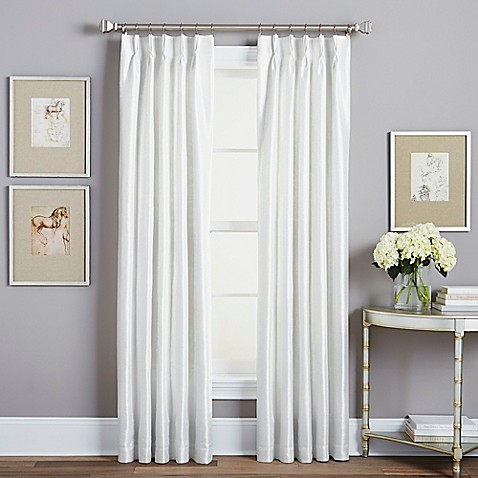 Buy Spellbound Pinch Pleat 95 Inch Rod Pocket Lined Window Curtain Panel In White From Bed Bath