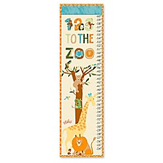 image of eric carle zoo growth chart canvas wall art