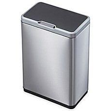 image of EKO Mirage Stainless Steel Rectangular 50-Liter Sensor Trash Can