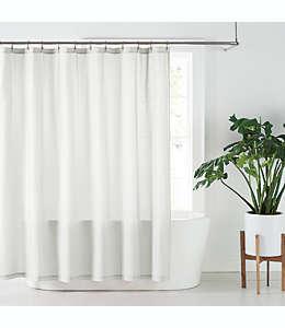 Cortina de baño de lino NestWell™ color blanco brillante