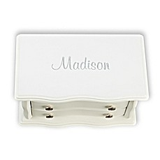image of Bianca 3-Compartment Jewelry Box in White