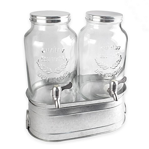 Artland 174 Farmhouse Dual Beverage Dispenser Set Bed Bath