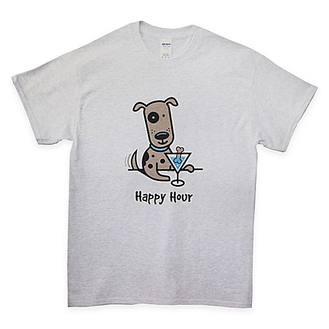 Buy medium happy hour t shirt in grey from bed bath beyond for One hour t shirts