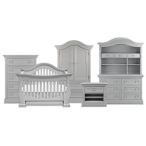 Baby Leseed Reg Davenport Nursery Furniture Collection In Moon Grey