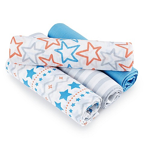 Aden 174 By Aden Anais 174 Small Fry Muslin 4 Pack Swaddleplus