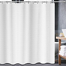 Image Of Avalon Shower Curtain In White