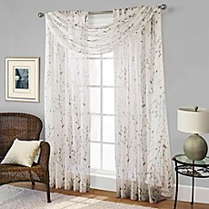 image of Willow Print Window Curtain Panel