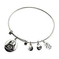 image of Star Wars™ Stainless Steel Darth Vader Charm Bangle Bracelet