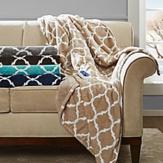 image of Beautyrest Ogee Oversized Heated Throw