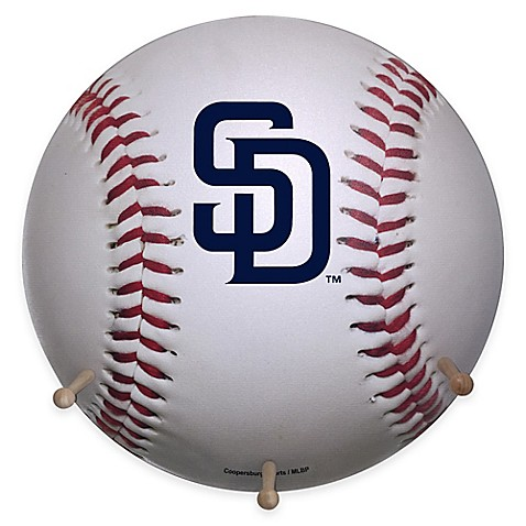 Mlb San Diego Padres Team Logo Baseball Coat Rack Bed