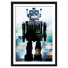image of Globot the Robot Wall Art in Blue