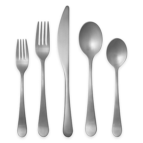 Gourmet settings windermere matte flatware collection bed bath beyond - Gourmet settings silverware ...