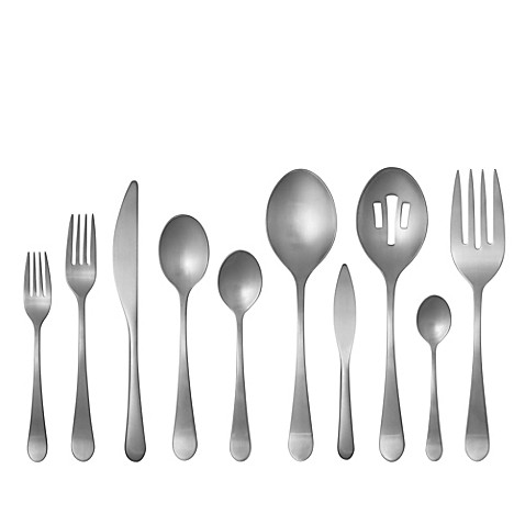 Gourmet settings windermere matte 45 piece flatware set bed bath beyond - Gourmet settings silverware ...