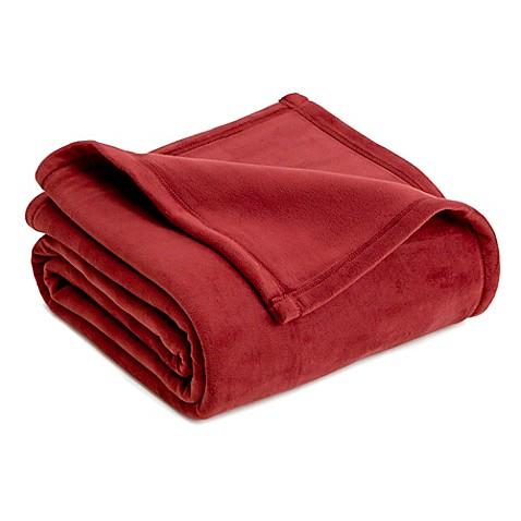 Buy vellux full queen plush blanket in burgundy from bed for Vellux blanket
