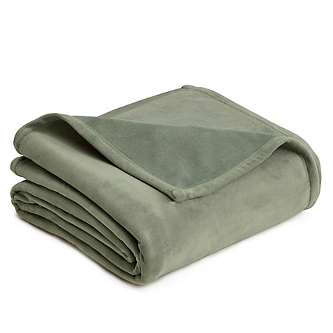 Buy vellux twin plush blanket in sage from bed bath beyond for Vellux blanket